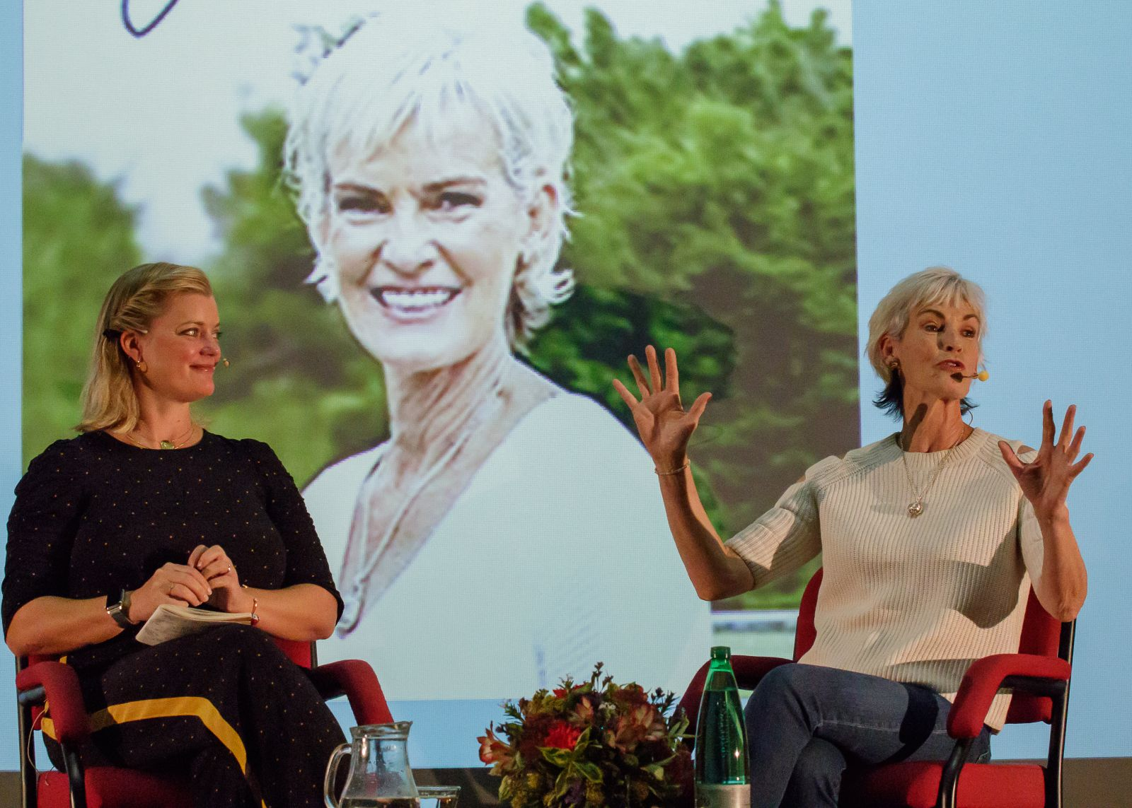 Alex Heminsley and Judy Murray