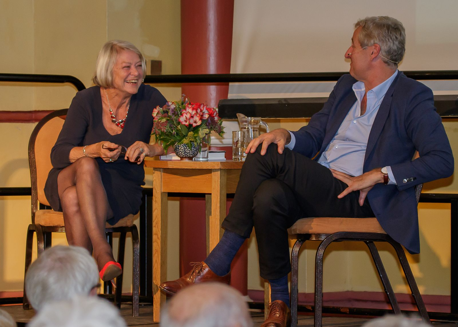 Kate Adie and Mark Austin